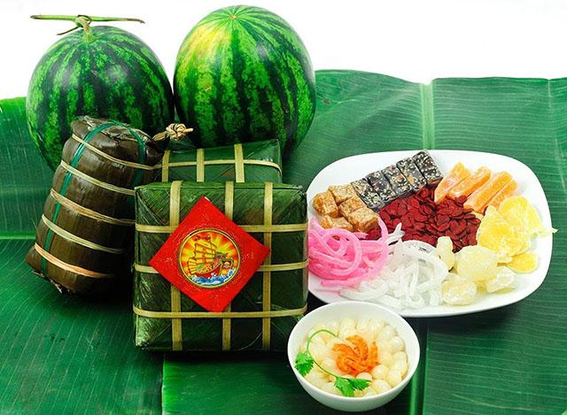Mâm trái cây ngày tết - Phong thủy Trọng Hùng