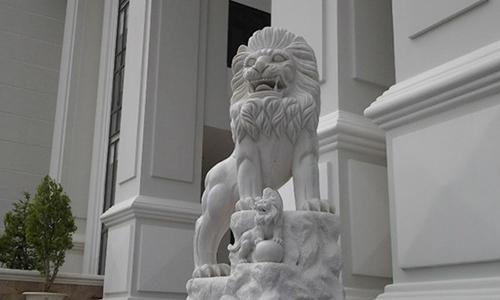 sư tử đá - phong thủy trọng hùng