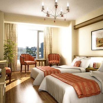 phòng ngủ khách sạn – phong thủy trọng hùng