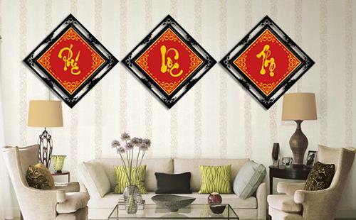 treo tranh chữ - phong thủy trọng hùng